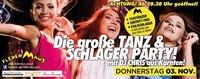 Die große TANZ- & Schlager PARTY mit DJ CHRIS aus Kärnten!@Fledermaus Graz