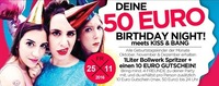 DEINE 50€ Birthday NIGHT meets KISS & BANG