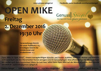 3rd Open Mike LIVE im GenussSpiegel - 1230 Wien-Atzgersdorf@Genuss-Spiegel - Café, Kunst & Kulinarik