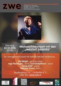 """Weihnachtskonzert mit den """"Wright Singers""""@ZWE"""
