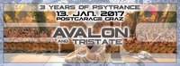 3 Years of Psytrance mit Avalon & Tristate@Postgarage