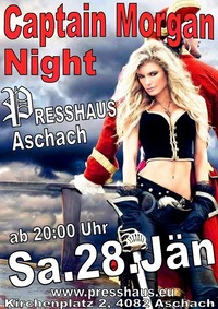Captain Morgan Night im Presshaus Aschach