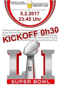 Superbowl Party im Krügerl@Bierpub Krügerl