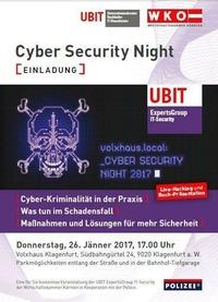 Cyber Security Night - UBIT & WKO@Volxhaus - Klagenfurt