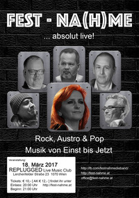 FEST-NA(H)ME ... absolut Live! Rock-Austro und Pop@REPLUGGED