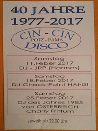 40 Jahre Cin Cin mit Dj JRP@Gasthaus Potz