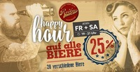 BEER - Happy Hour! -25%@Rockys Music Bar