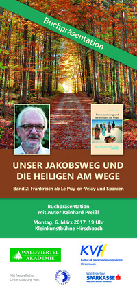 Unser Jakobsweg und die Heiligen am Wege@Kleinkunstbühne Hirschbach
