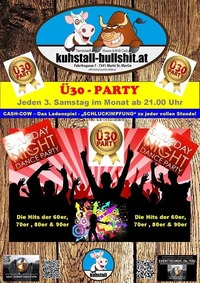 3. Samstag des Monats im Kuhstall - Ü30 Party@Kuhstall
