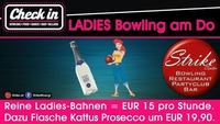 Ladies Bowling jeden Donnerstag im Strike / Check in@Check in
