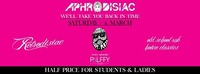 Aphrodisiac/ We'll take you back in time/ SA 4 Mar/ Palffy Club@Palffy Club