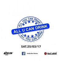 All u can Drink Special@Inside Bar