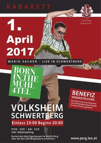 Benefizkabarett mit Mario Sacher - Born in the Mühl4tel@Volksheim Schwertberg