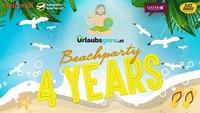 4 YEARS urlaubsguru.at - Beachparty@WUK