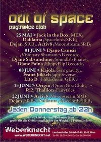Out Of Space Psytrance Club // Do 8. Juni // Weberknecht@Weberknecht