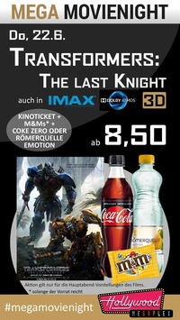 MEGA MovieNight: IMAX Transformers 5 - The Last Knight@Hollywood Megaplex