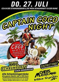 Captain Coco Night XXL Schaumparty@Excalibur