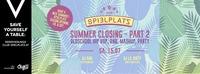 Spielplatz Summer Closing pt.2 w/ Oldschool Hip Hop Jam@Club Spielplatz