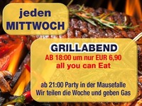 Jeden Mittwoch – Grillabend – all you can eat@Mausefalle
