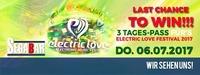 Last Chance to win Electric Love Festival Ticket!@Segabar Rudolfskai 18