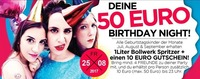 DEINE 50€ Birthday NIGHT
