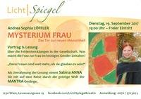 LichtSpiegel Vortrag & Lesung: Mysterium Frau – Das Tor zur neuen Menschheit@Genuss-Spiegel - Café, Kunst & Kulinarik
