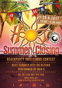 Hot Summer Closing 2017 - Auf die ersten 10 JAHRE@Vienna City Beach Club