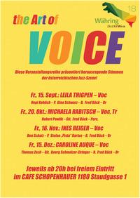 The ART OF VOICE feat. Ines Reiger@Cafe Schopenhauer