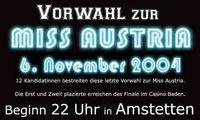 Vorwahl zur Miss Austria@Disco Sachs