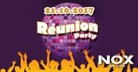 Reunion Party 80's, 90's + Charts | Sa, 21.10.2017 at Nox Club@Nox Bar