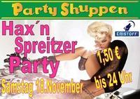 Samstag 18.November ,Hax´n Spreitzer Party!@Partyshuppen Aspach