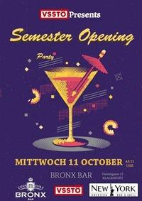VSStÖ Grand Semester Opening Party@Bronx Bar