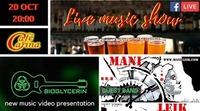 BIOGLYCERIN presents New music video - MANI LEIK band supports@Café Carina