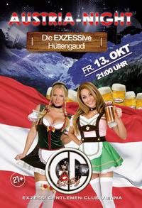 AUSTRIA NIGHT - Die EXZESSive Hüttengaudi!    @Exzess! Gentlemen-Club Vienna