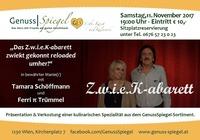 Z.w.i.e.K-abarett - im Kleinkunst-Café GenussSpiegel