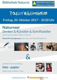 Naturnser Denker & Künstler & Schriftsteller@Bibliothek Naturns