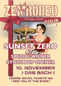 Zen*Rodeo with Sunset Zero and Special Wiener Synth Pop Opener@dasBACH