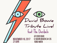 David Bowie Tribute Live! feat The Decibels@Coco Club