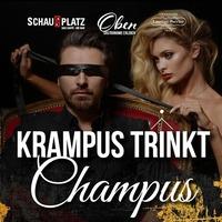 Krampus trinkt Champus - deluxe@Schauplatz