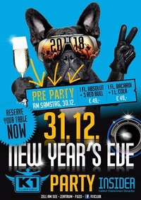 Pre New Years Eve & New Years Eve Party@Insider