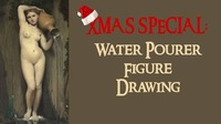 Xmas Special: Water Pourer Figure Drawing@Mon Ami