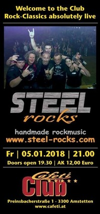Steel Rocks Neujahrskonzert@Cafeti Club