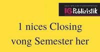 Semester Closing | Publizistik-Fest@The Loft