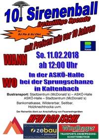10. Sirenenball der FF Bad Ischl@ASKÖ Eisstockhalle (neben Sprungschanze)