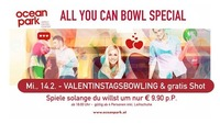 Valentinstag - all you can bowl Special - im ocean park Wien@Ocean Park