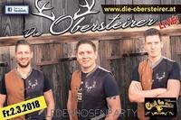 Die Obersteirer live Lederhosenparty (2.3.2018)@Cestlavie