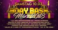 B-Day Bash März 2018@Eventhouse Freilassing