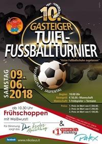 10. Gosteiger Tuifl-Fuaßbollturnier 2018@Jaufental