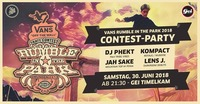 Vans Rumble in the Park 2018 Aftercontestparty@GEI Musikclub