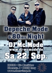 Depeche Mode & 80ies NIGHT!@Eberz - Die Musikbar